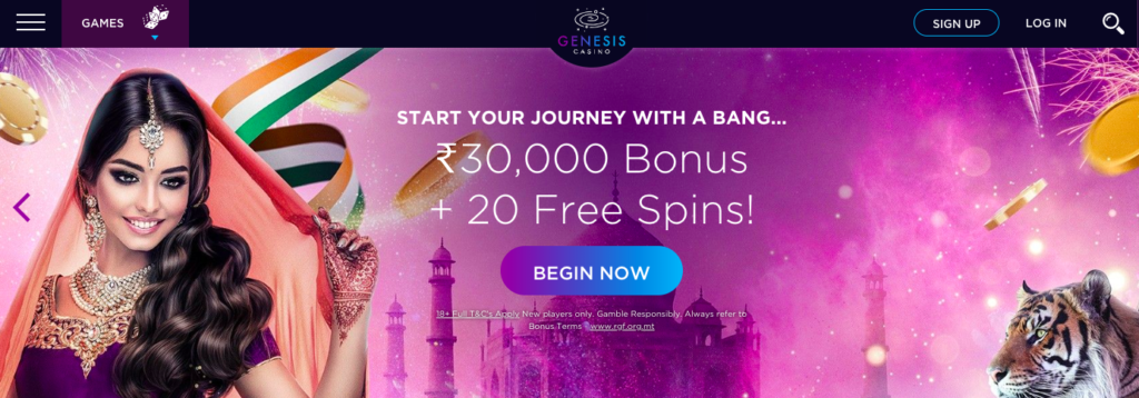 Genesis Casino India Welcome Bonus