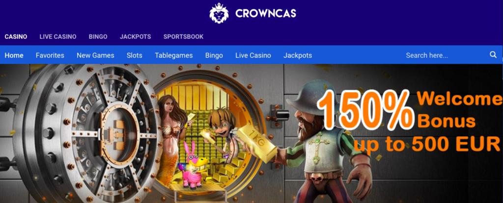 Crowncas Casino Welcome Bonus