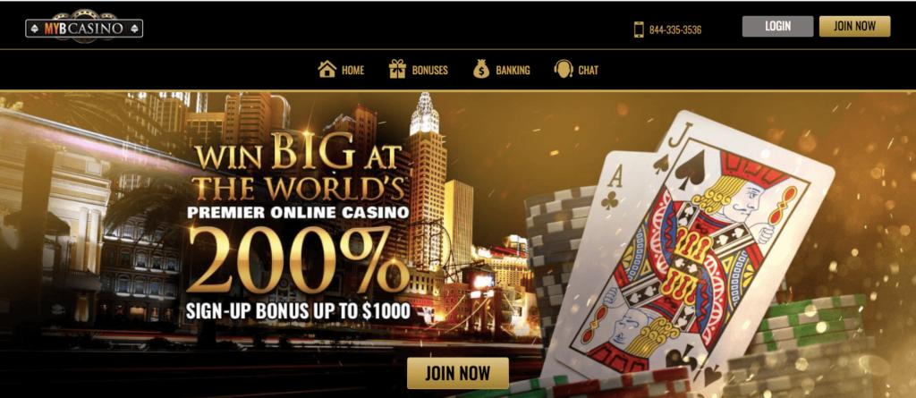 MYB Casino Welcome Bonus