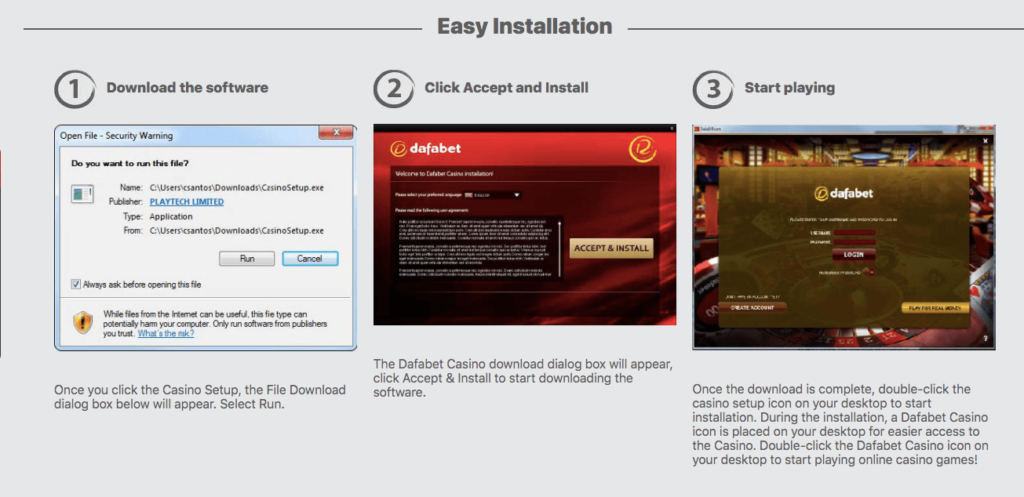 Dafabet Download and Installation Guide