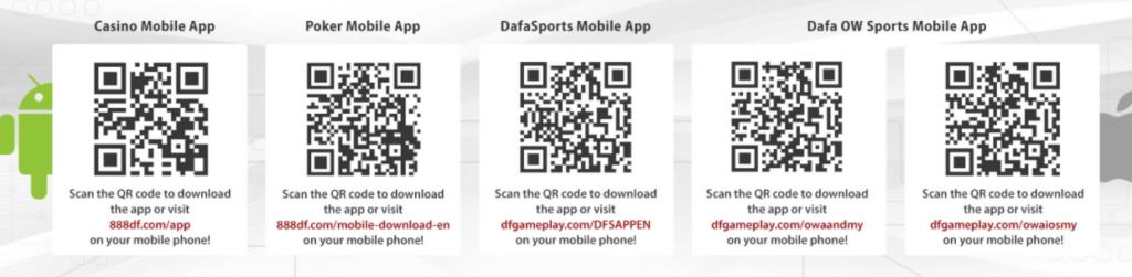 Dafabet app download QR code screenshot