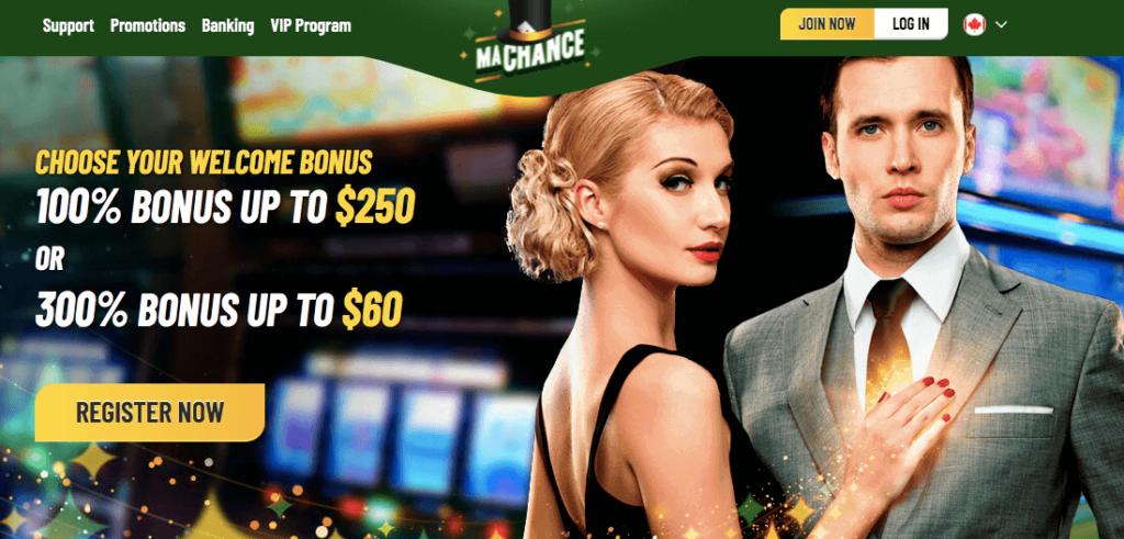 MaChance Welcome Bonus