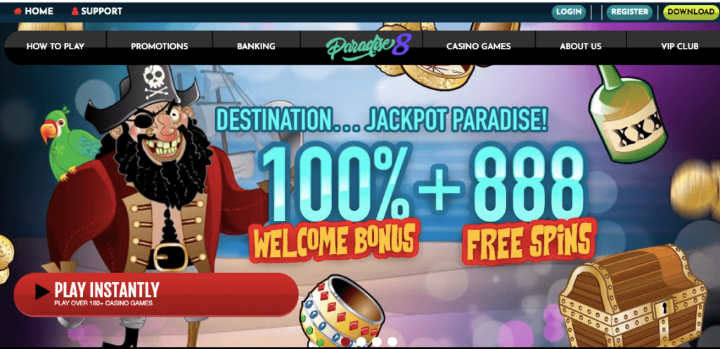 paradise 8 casino welcome bonus