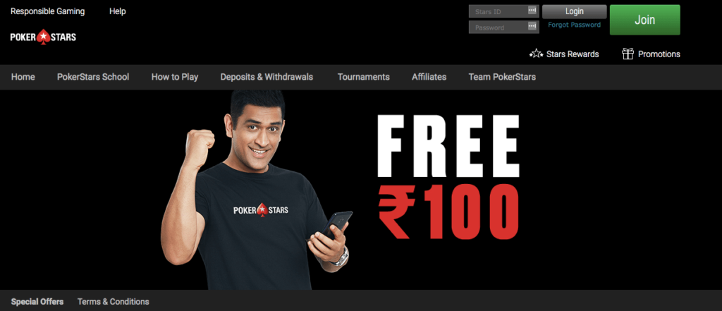Pokerstars india free 100