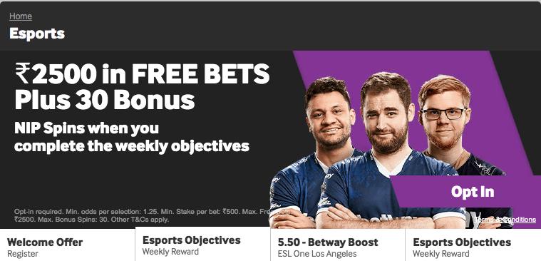 betway esports bonus