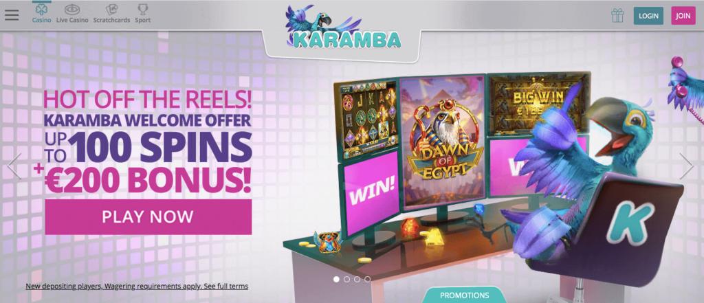 Karamba Welcome Offer upto 100 Free Spins