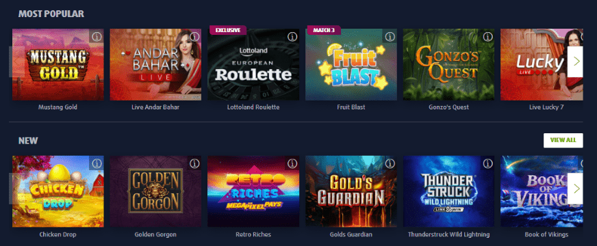 live casino games lottoland