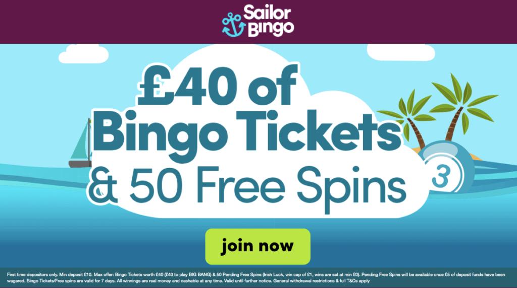 Sailor Bingo Bonus