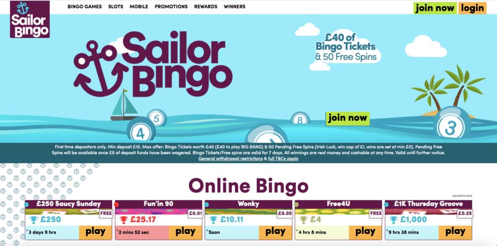 Sailor Bingo Lobby