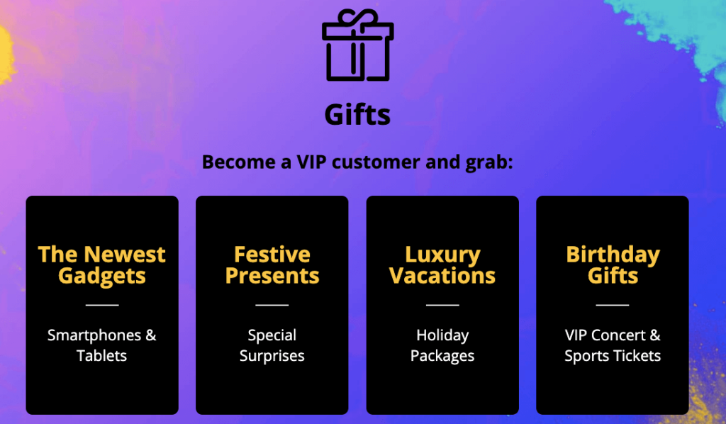 special rewards for VIP Players