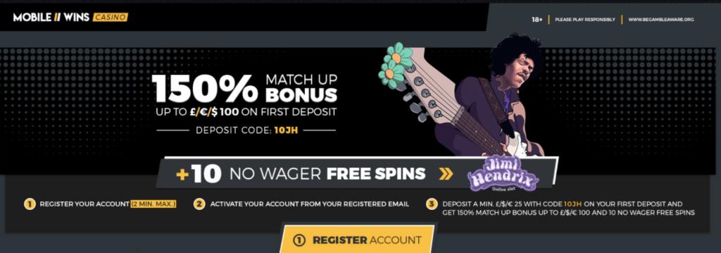 Mobilewins bonuses information