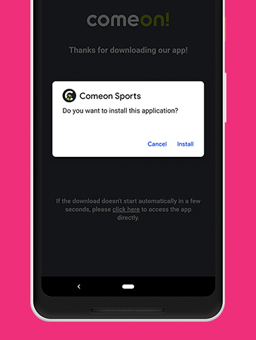 Screenshot for Step 2 in App Download