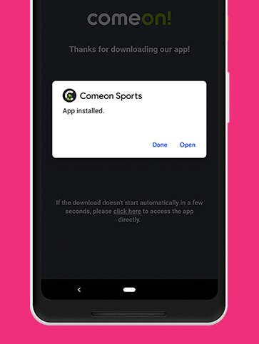 Screenshot for Step3 in App Download