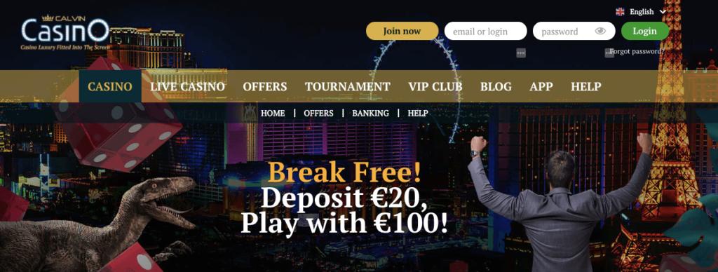 calvin casino bonuses