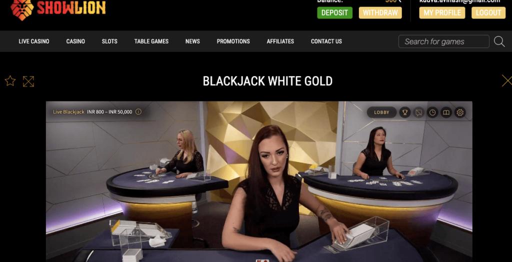Live Blackjack Gold