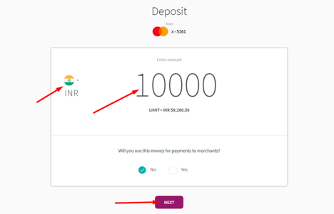skrill deposit method step7