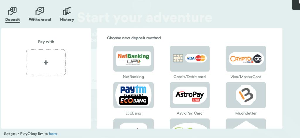 Casumo India Deposit Method