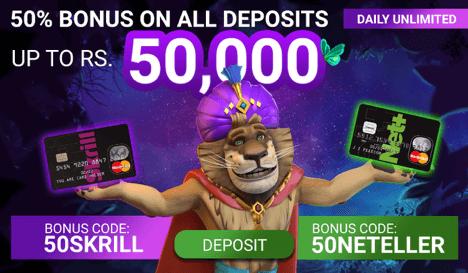 JungleRaja June 2020 Neteller bonus