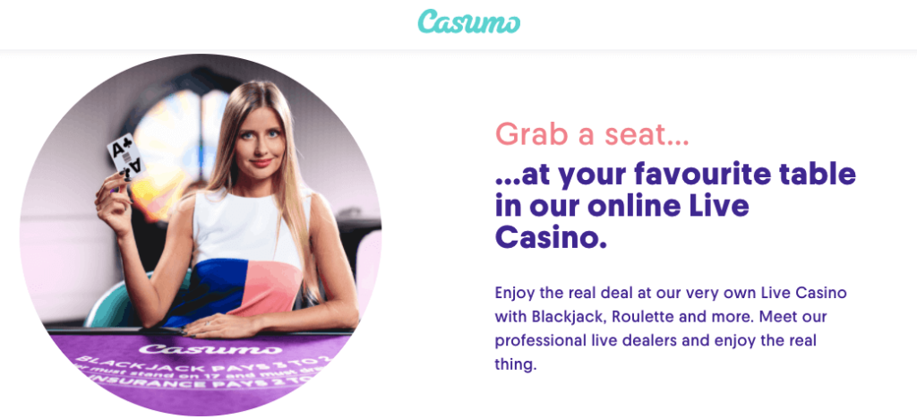 Casumo Casino Live Games