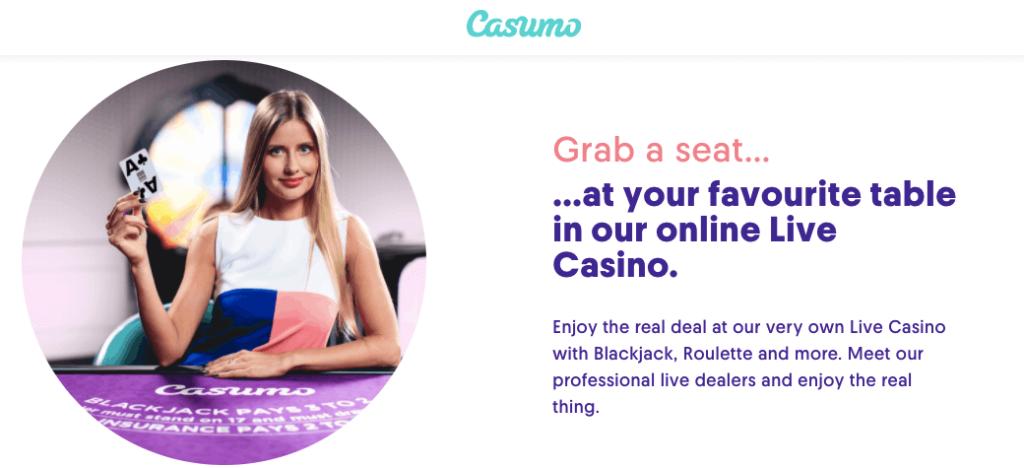 Casumo Casino Live Games