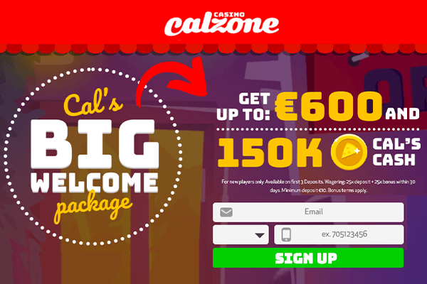 Calzone Casino Welcome Bonus