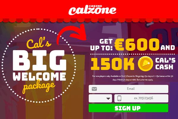 Calzone Casino Welcome Bonus