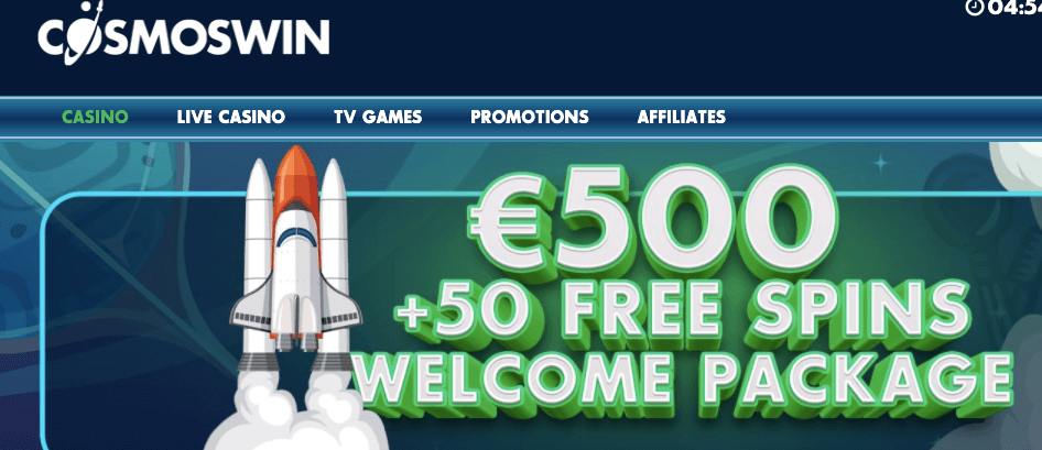 Cosmos Win Casino bonus