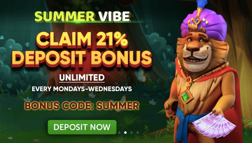 deposit bonus on jungleraja casino