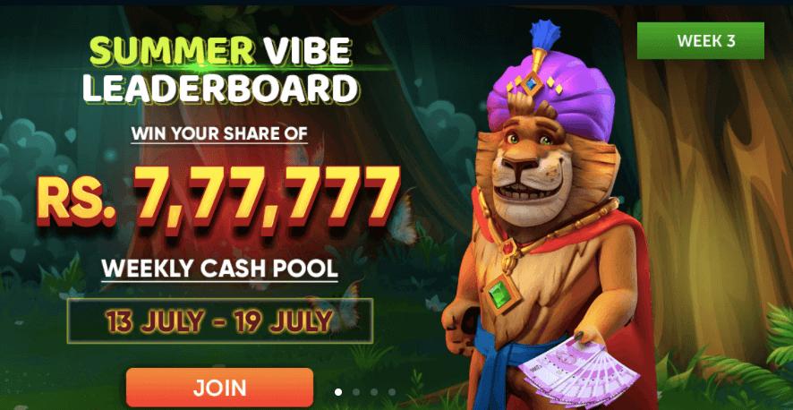 JungleRaja Summer Vibe Casino