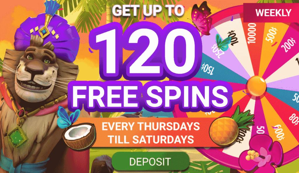 Free Spins on JungleRaja