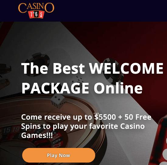 Casino765 welcome bonus
