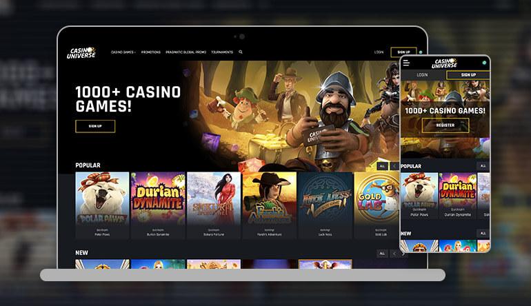 casino universe homepage