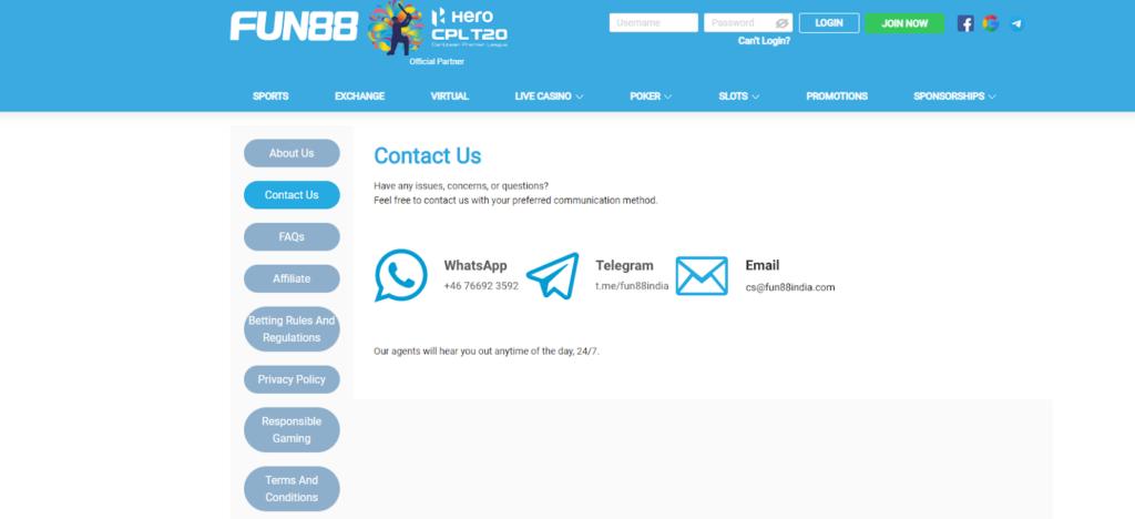 fun88 customers support