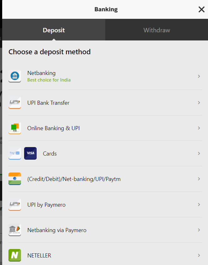 How to Deposit on Betway