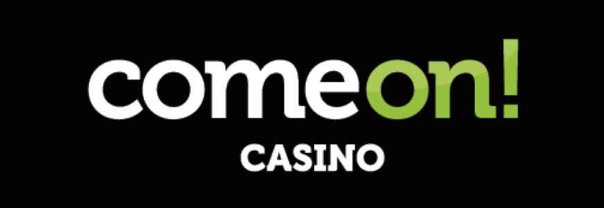 comeon logo black background