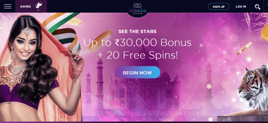 Genesis Casino India Welcome Bonus