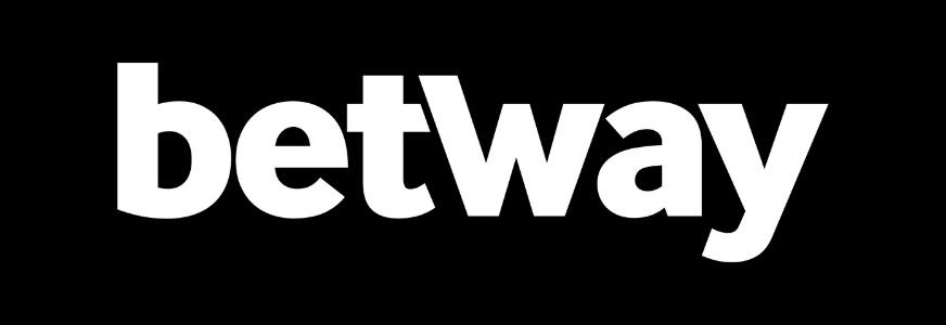 white betway logo with black background