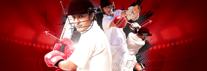 cricket-Betting banner with player