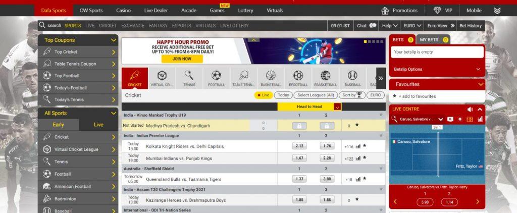 Dafabet Sport betting