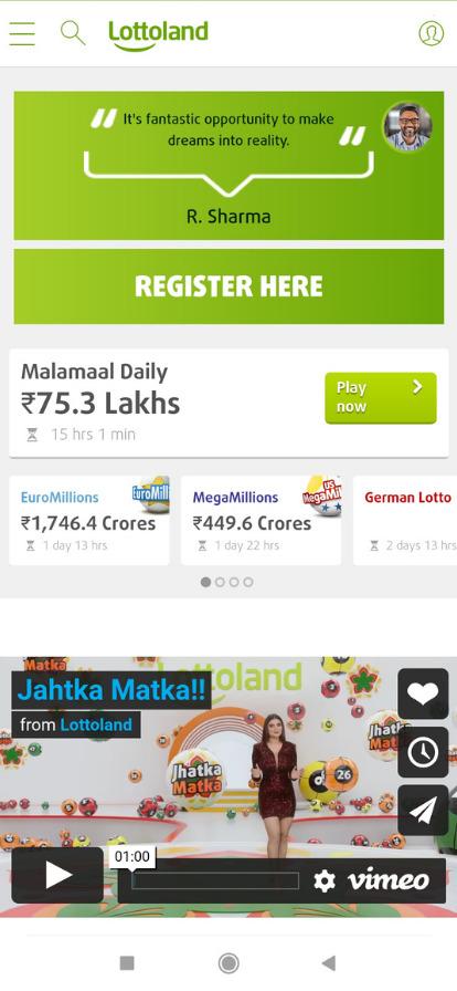 lottoland app user interface