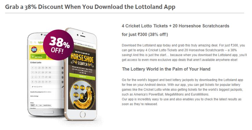Lottoland App offer